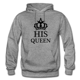 HIS QUEEN: Gildan Heavy Blend Adult Hoodie - graphite heather