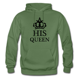 HIS QUEEN: Gildan Heavy Blend Adult Hoodie - military green