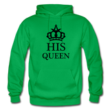 HIS QUEEN: Gildan Heavy Blend Adult Hoodie - kelly green