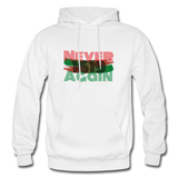 NEVER AGAIN 1619: Gildan Heavy Blend Adult Hoodie - white