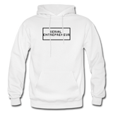 SERIAL ENTREPRENEUR: Gildan Heavy Blend Adult Hoodie - white