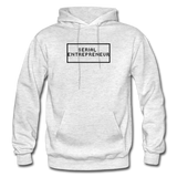SERIAL ENTREPRENEUR: Gildan Heavy Blend Adult Hoodie - light heather gray