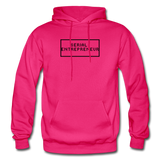 SERIAL ENTREPRENEUR: Gildan Heavy Blend Adult Hoodie - fuchsia