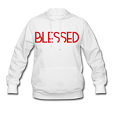 BLESSED & HIGHLY FAVORED (RG): Women's Hoodie - white
