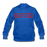 BLESSED & HIGHLY FAVORED (RG): Women's Hoodie - royal blue