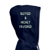BLESSED & HIGHLY FAVORED (RG): Women's Hoodie - navy