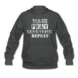 WAKE.PRAY.FAITH.REPEAT (W): Women's Hoodie - asphalt