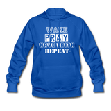 WAKE.PRAY.FAITH.REPEAT (W): Women's Hoodie - royal blue