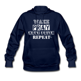 WAKE.PRAY.FAITH.REPEAT (W): Women's Hoodie - navy