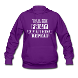 WAKE.PRAY.FAITH.REPEAT (W): Women's Hoodie - purple