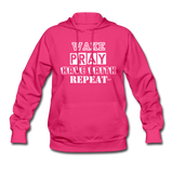WAKE.PRAY.FAITH.REPEAT (W): Women's Hoodie - fuchsia