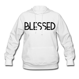 BLESSED & HIGHLY FAVORED (BLK) Women's Hoodie - white