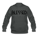 BLESSED & HIGHLY FAVORED (BLK) Women's Hoodie - asphalt