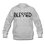 BLESSED & HIGHLY FAVORED (BLK) Women's Hoodie - heather gray