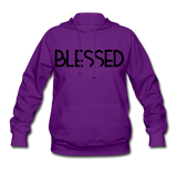 BLESSED & HIGHLY FAVORED (BLK) Women's Hoodie - purple