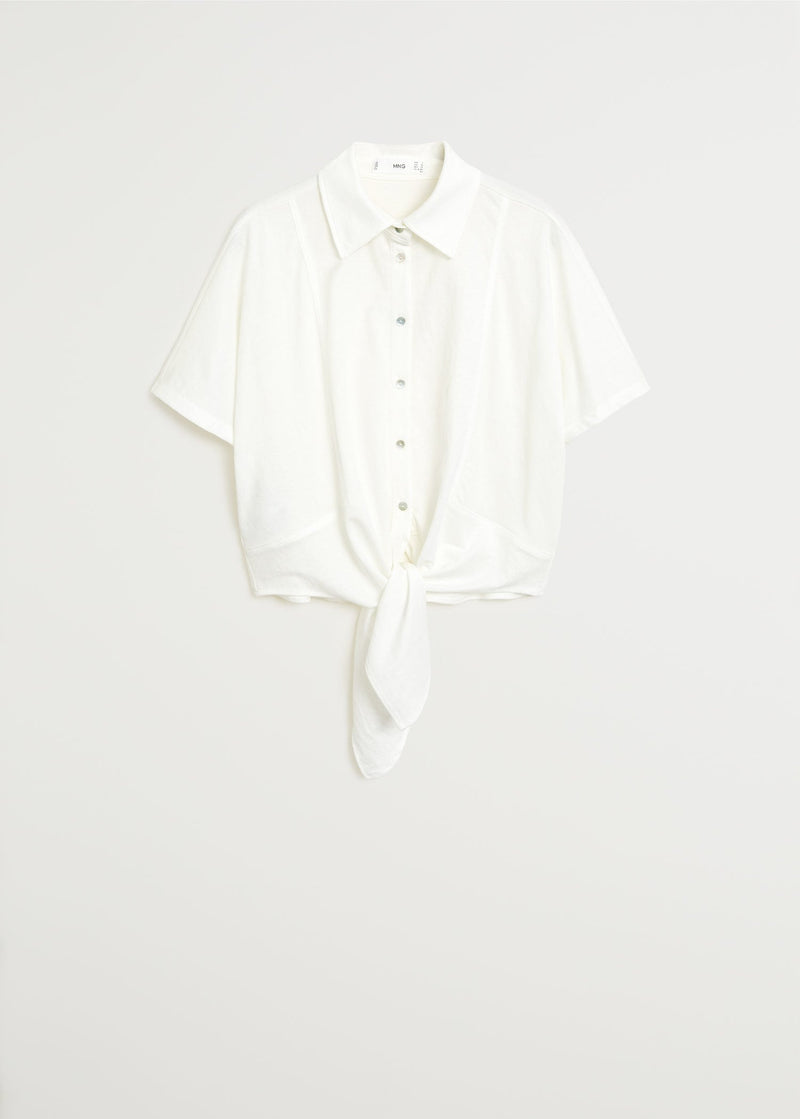 MNG Camisa Nudo - Off White