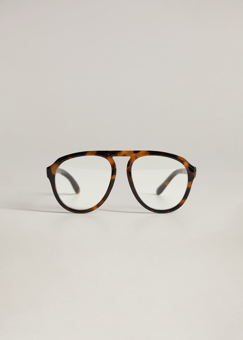 Gafas Aviador Montura Carey - Chocolate
