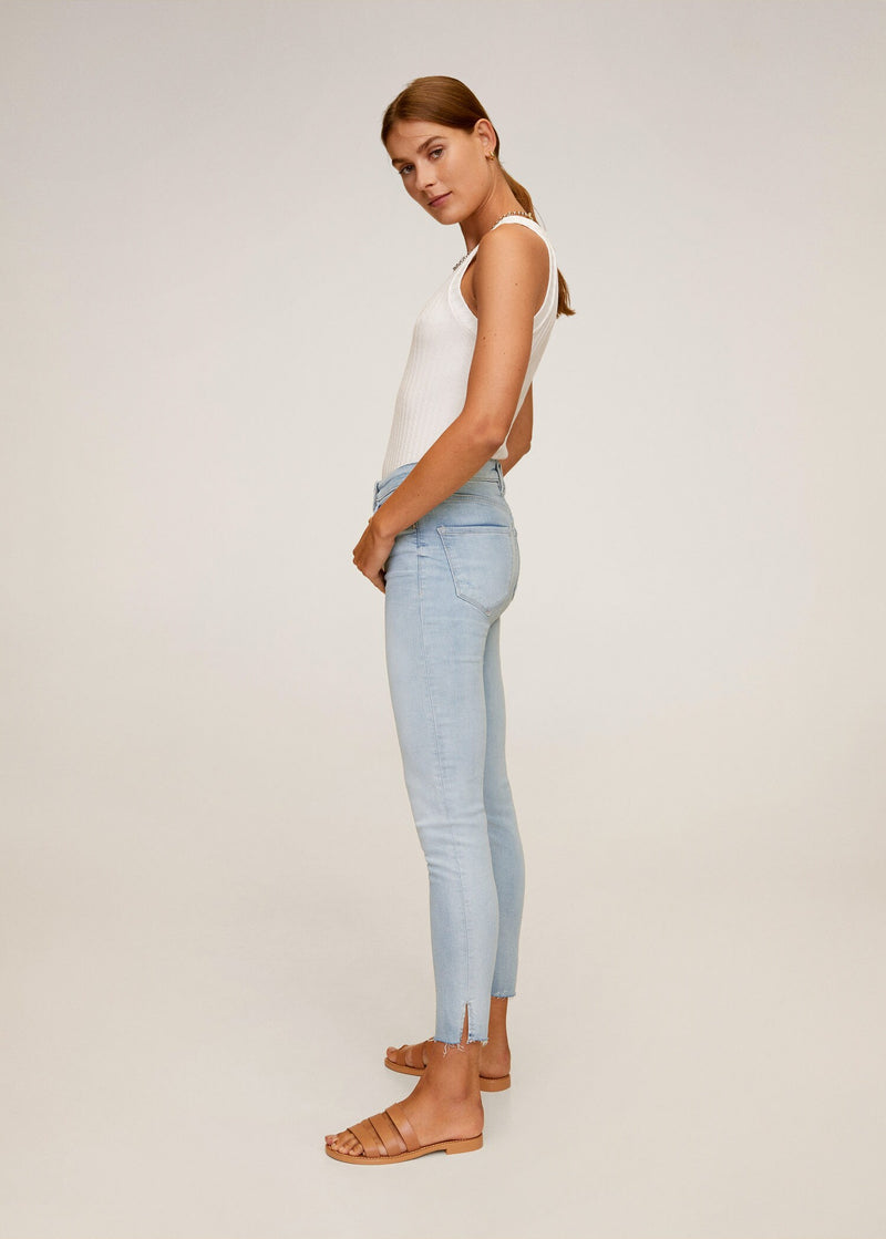 MNG Jeans Skinny Crop Isa - Tejano Claro