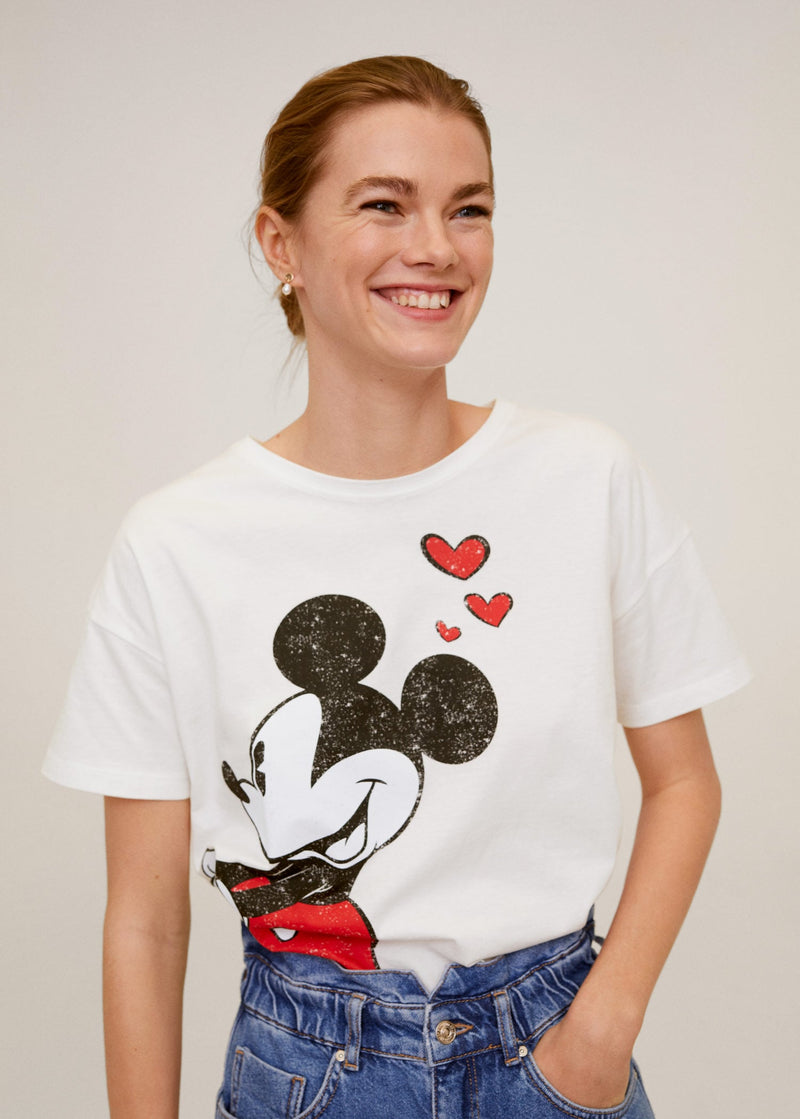 Camiseta Mickey Mouse - Blanco (Licencia)
