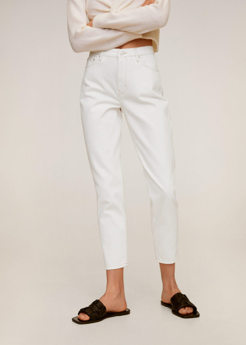 MNG Jeans Mom-Fit - Blanco