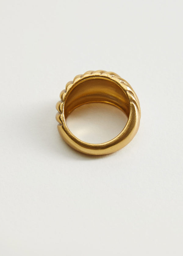 MNG Anillo Grande Relieve - Oro