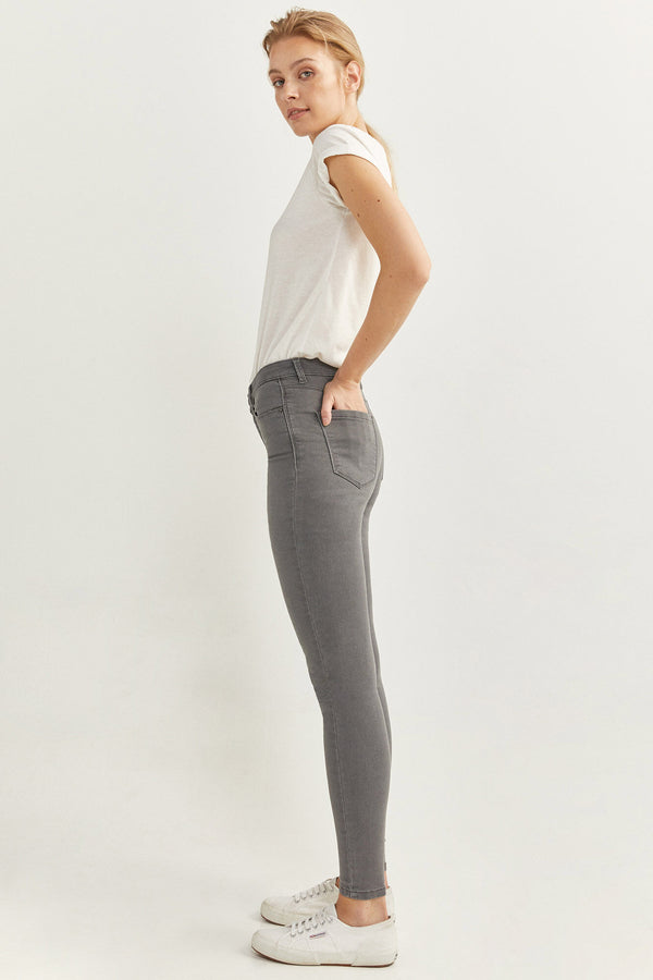 SPF Jeans Jegging Lavado Sostenible - Gris Oscuro