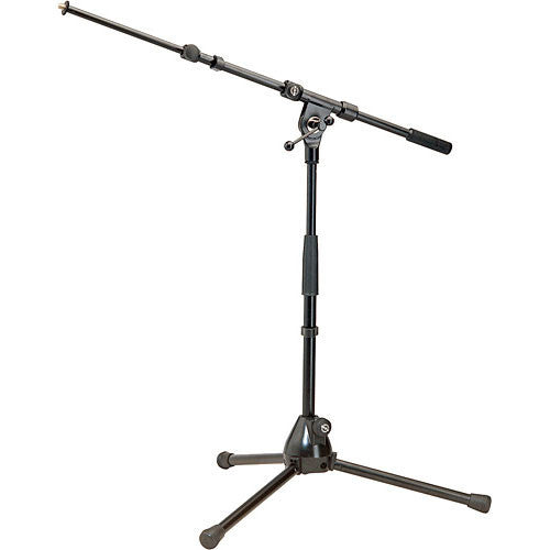 K&M Low Tripod Microphone Stand with Boom Arm