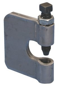 Plain Finish Pressed Steel Beam Clamp w/ Lock Nut