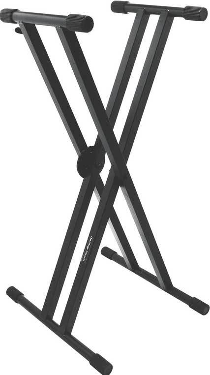 Heavy-Duty Double-X Keyboard Stand