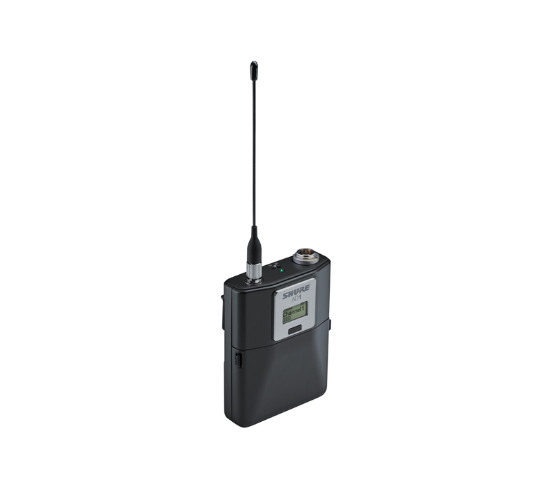 Shure AD1 Digital Wireless Bodypack Transmitter with TA4M
