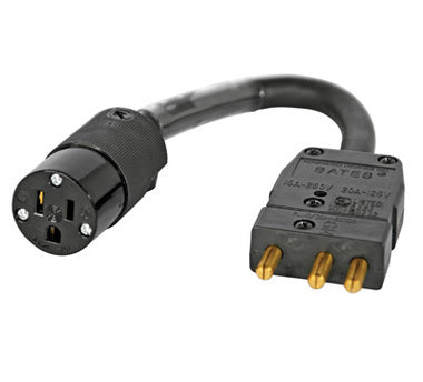 Stage Pin to Edison Adapter Cable