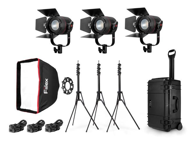 Fiilex P360 Pro Plus 3-Light LED Interview Travel Kit