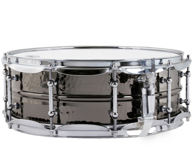 "Ludwig Black Beauty 5""x14"" Hammered Brass Snare Drum w/ Imperial Lugs"