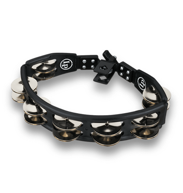 Latin Percussion Cyclops Mountable Tambourine In Black With Steel Jingles