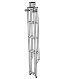 Applied LA16 Line Array Tower Lifting Ladder + 2 Spigot Clamps