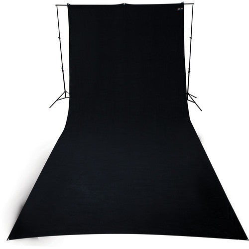 Westcott 9' x 20' Wrinkle-Resistant Polyester Background - Black