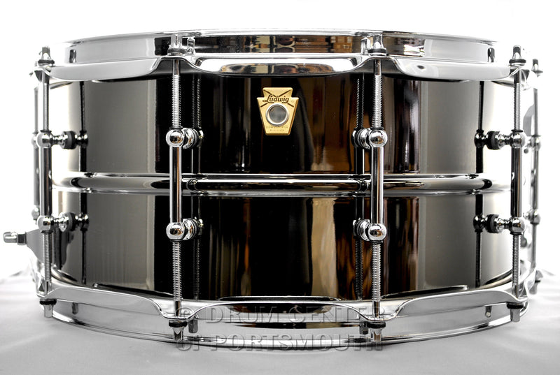 "Ludwig Black Beauty 6.5""x14"" Hammered Brass Snare Drum w/ Imperial Lugs"