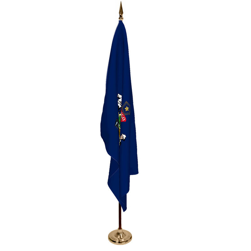 Maine State Flag on Stand