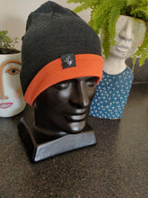 Load image into Gallery viewer, Slouch Beanie - Navy /Orange