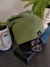 Load image into Gallery viewer, Slouch Beanie - Deep Green/Grey
