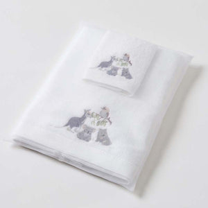 Baby Towel & Washer In Organza Bag