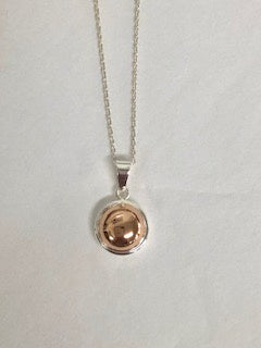 Round dome pendant necklace