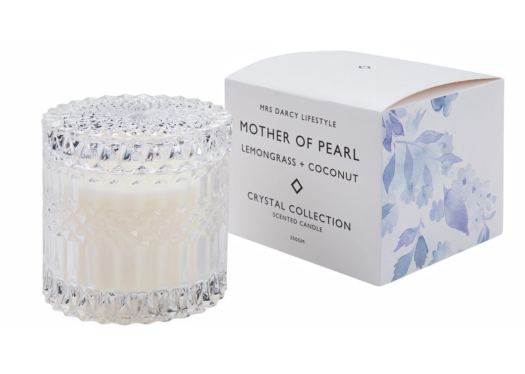 Mrs Darcy Candle Crystal Range Mother Of Pearl