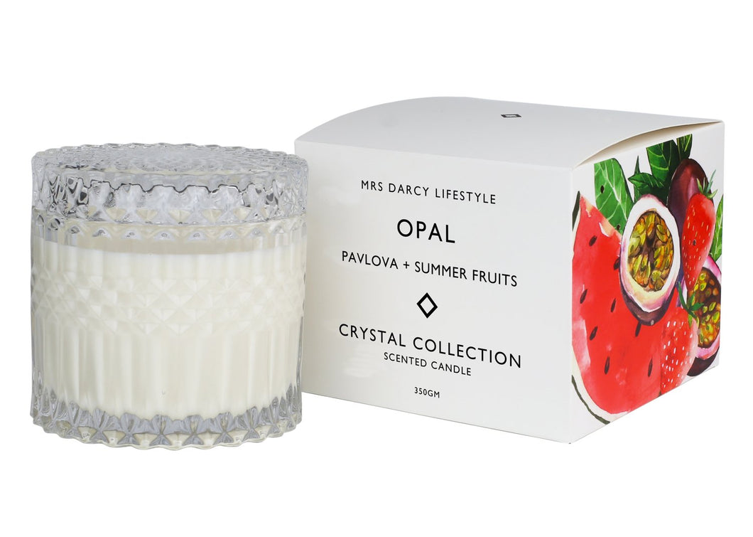 Mrs Darcy Candle Crystal Range Opal