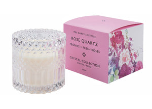 Mrs Darcy Candle Crystal Range Rose Quartz