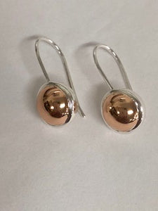 Round dome hook earring