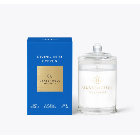 Glasshouse Candle Diving Into Cyprus 60G