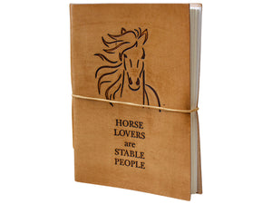 Leather Notebook Horse