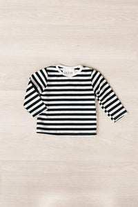 Le Edit French Stripe Long Sleeve Tee
