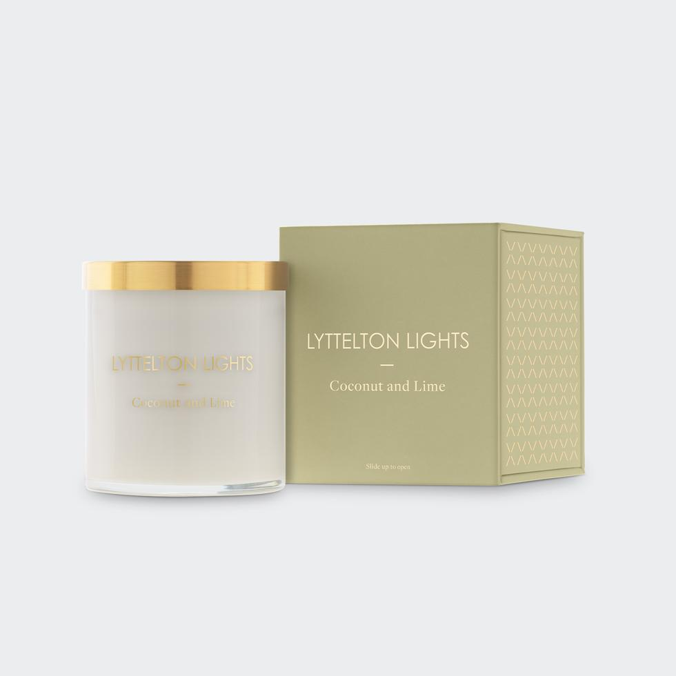 Lyttelton Lights - Candle, Coconut and Lime (Medium)